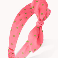 Self-Tie Polka Dot Headwrap