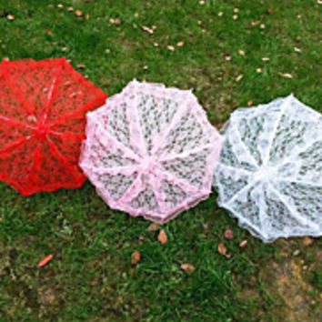Lace Wedding/Party Ruffled Umbrellas(More Colors)