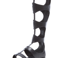 Bodie Leather Gladiator Sandals in Black
