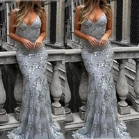US Women Formal Wedding Bridesmaid Evening Party Ball Cocktail Sling Dress