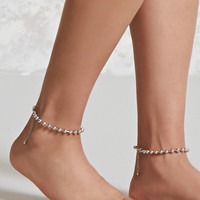 Ball Chain Anklet Set