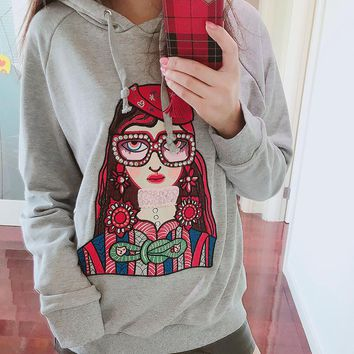 Gucci Fashion Unskilled Worker Hooded Sweatshirt