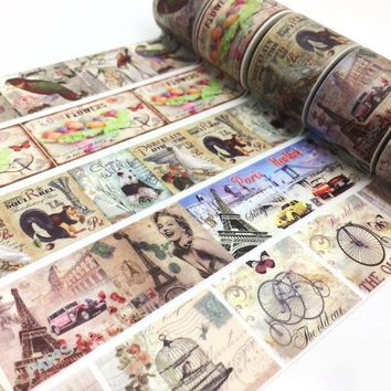 Decorative jiataihe Washi Tape set  masking tape paris  School Supply Scrapbooking tape adhesive tape Vintage