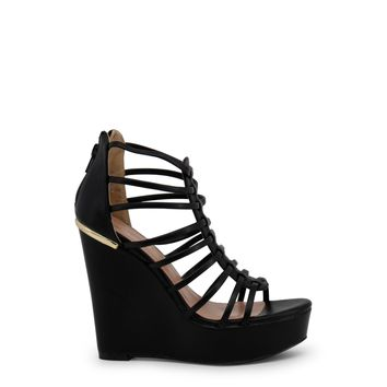 Blu Byblos- Midnight Zip Heel Wedges