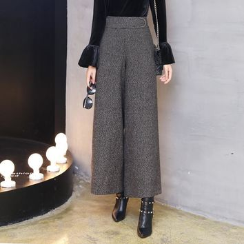 Ankle Length Woolen Flared Pants