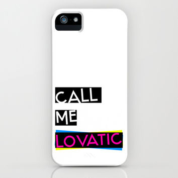 Call Me Lovatic - Demi Lovato iPhone & iPod Case by POPOP Store