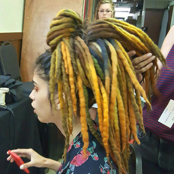 Dreadlock Marc Jacobs Fashion Show Dreads Custom Wool Dreads Hippie Dreads Hair Extensions Wool Dreads Ombre Hair Accessories Set of 45