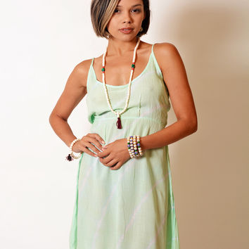 Kiss the Sun Tie Dye Mini Dress - Mint