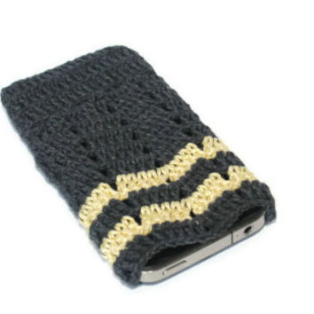 iPhone 5 / 4 / 4S / Case, Gadget Sleeve -Geometric Crochet Case . Handmade Iphone Case