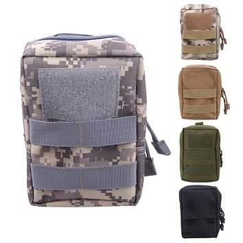 Molle Tactical Pouch Military Waist Bag Outdoor Camping Hunting Waist Pack Waterproof Phone Bag with Side-release buckle