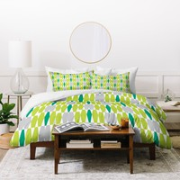 Heather Dutton Abacus Emerald Duvet Cover