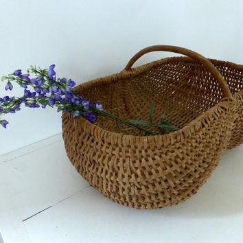 Large Vintage French Buttocks Basket