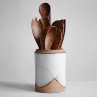 Hand Thrown Utensil Holder