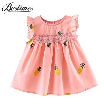 Baby Girls Clothes Summer Newborn Infant Dress Cotton Pineapple Sleeveless Toddler Dresses