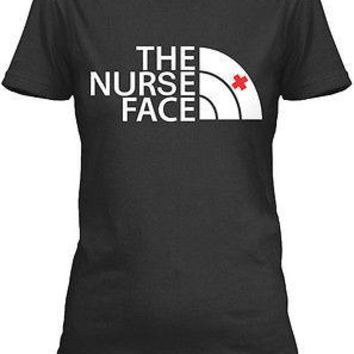 The Nurse face awesome rn registered nurse t-shirt for unisex adult