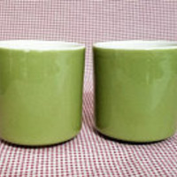 Green Mugs TST Tea or Coffee Cups Vintage Taylor Smith Taylor 50's 60's Dinnerware
