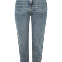 PETITE Dark Denim Cropped Mom Jeans | Topshop