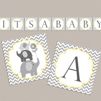 Baby shower banner Its a baby baby shower decorations baby shower banner elephant baby shower banner (87)