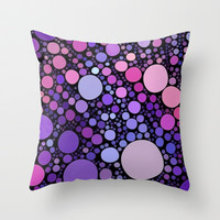 cool dots-orchid Throw Pillow by Sylvia Cook Photography