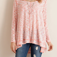 Spending It On Me Two Tone Cut and Sew Knit Top - Pink