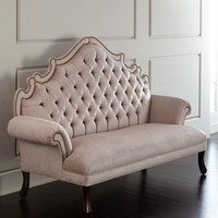 William Dining Chair, Daniella Tufted Banquette, & Eliza Mirrored Dining Table
