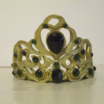 gumpaste tiara cake topper sugar edible jewel crown gold silver saphire emerald diamond