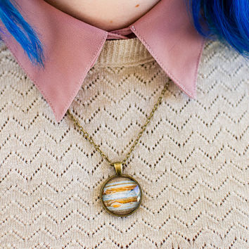 Jupiter Necklace / Planet Necklace