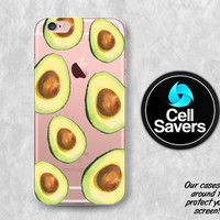 Avocado Clear iPhone 6s Case iPhone 6 iPhone 6s Clear Case iPhone 6 Plus iPhone 5c iPhone SE Clear Case Avocado Half Green Guacamole Tumblr