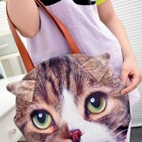 Cute Leisure Cartoon Animal Face Shape Handbag from styleonline