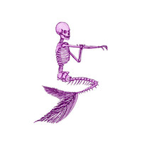 Mermaid Image, Skeleton Image, Mermaid Skeleton Image, Mermaid Cutout, Mermaid Skeleton Cutout, Vintage Mermaid Template, Halloween Template