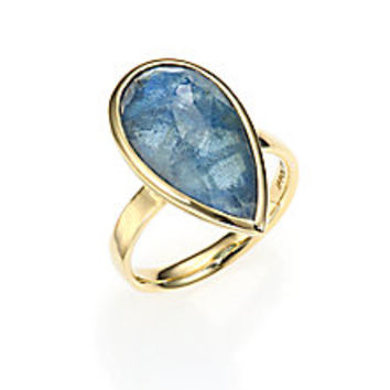 IPPOLITA - Rock Candy London Blue Topaz, Labradorite & 18K Yellow Gold Doublet Ring - Saks Fifth Avenue Mobile