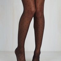 La Di Dotty Tights | Mod Retro Vintage Tights | ModCloth.com