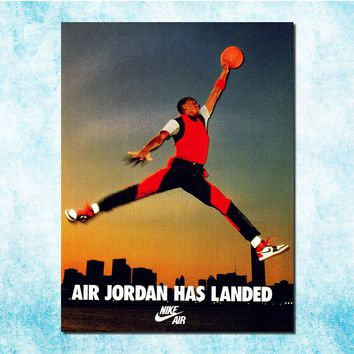Michael Jordan Shoes MJ 23 Chicago Bulls NBA MVP Basketball Silk Canvas Poster 13x18 24x32inch Picture For Room Decor (more)-8