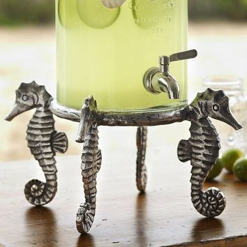 SEAHORSE DRINK DISPENSER STAND