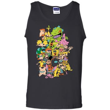 Nickelodeon Complete Nick 90s Throwback Character  Tank Top