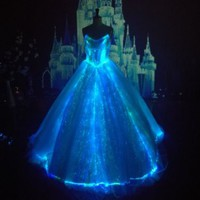 luminous Wedding Dresses glowing bridal luxurygown light up dress twinkle star
