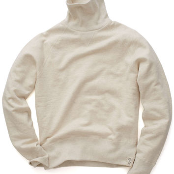 Todd Snyder Japan Turtleneck Sweatshirt in Ivory