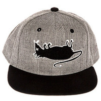 RAT HUNTER SNAPBACK HAT HEATHER/BLK