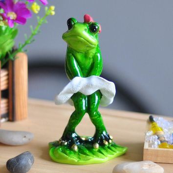 Estatua De Resina Cute Frog Resin Crafts Ecoracion Jardin In Monroe Souvenir Costume Animal Figurines Kawaii Estatua De Resina