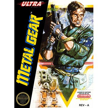 Retro Metal Gear Game Poster//NES Game Poster//Video Game Poster//Vintage Game Cover Reprint