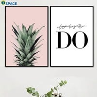 Pineapple Leaves Do Quotes Wall Art Canvas Painting Nordic Posters And Prints Wall Pictures For Living Room Decoration Pictures