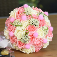 Beautiful High Quality Wedding Bride Holding Flower Bridal Bouquet Flower-0017