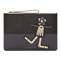 Black Screw'd Up Face Chica Zip Pouch