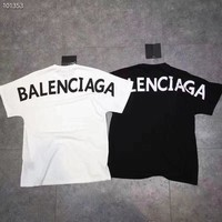 """Balenciaga"" Women Hot letters print T-shirt top two color"