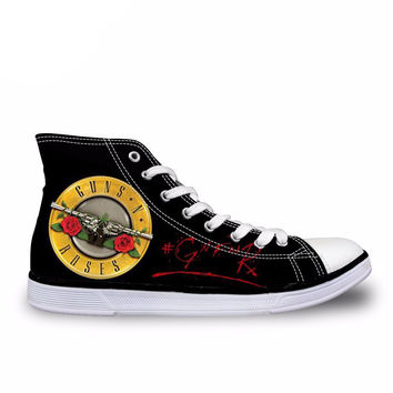 New Guns N Roses Pattern Printed Shoes for Women/ Men