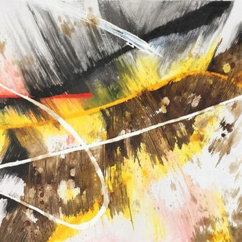 """Modrest 32"""" x 32"""" Abstract Oil Painting"""