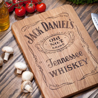 Cutting Board, Jack Daniels, Jack Daniels decor, bar decor