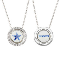 Honora NFL Dallas Cowboy White Crystal Round Pendant