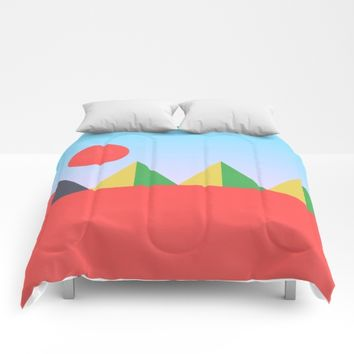 Pyramids in the Sun Comforters by Trevor May