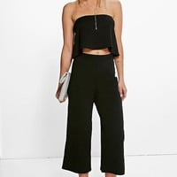 Cari Bandeau Top & Culottes Co-Ord Set | Boohoo